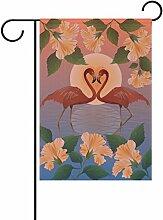 TIZORAX Romantische roten Flamingos und Mond,
