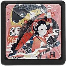 TIZORAX Schubladenknäufe, japanische Frauen,