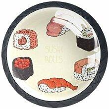 TIZORAX Schubladenknäufe, japanischer Sushi,
