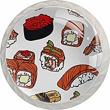 TIZORAX Schubladenknauf, Sushi-Muster,