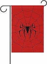 TIZORAX schwarz Web Spider rot Garten Flagge