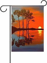 TIZORAX Sunset Reflections Gemälde Garten Flagge