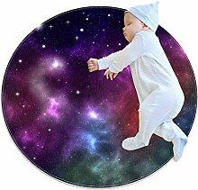 TIZORAX Teppich, heller Weltraum Galaxie Nebel