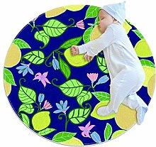 TIZORAX Teppich, zottelig, Zitronengelb mit
