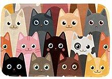 TIZORAX Teppiche Farbige Katze Familie Bodenmatte