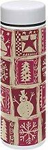 TIZORAX Thermosflasche mit Weihnachtsbaum,