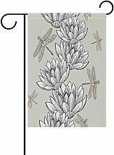 TIZORAX Water Lilies und Libellen,
