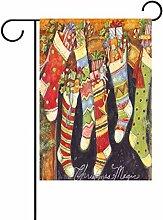 TIZORAX Weihnachten Socken mit Flaggen-Print