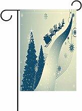 TIZORAX Weihnachtsbaum Schneeflocke Deer Garten