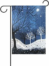 TIZORAX Winter-Garten-Mülleimer mit Deko-Print
