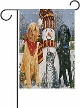 TIZORAX Winter Schneemann Friends Katze Hund