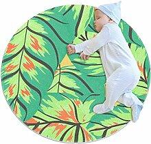 TIZORAX zotteliger Teppich Bananenbaum Blätter