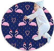 TIZORAX zotteliger Teppich Flamingos mit