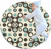 TIZORAX zotteliger Teppich, nahtlos, mit Kreisen