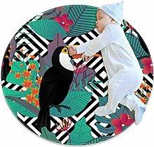TIZORAX zotteliger Teppich Papagei mit