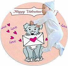 TIZORAX zotteliger Teppich, Valentinstagskarte mit
