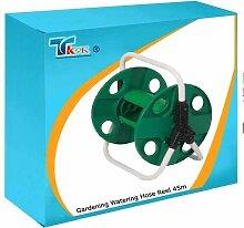 TK9K - Garten Bewässerung Schlauchaufroller 45 M Kapazität leichte Schlauch, mit integrierten Tragegriff. Fasst bis zu 45 M von 1.27 cm (12,5 mm) Gartenschlauch (nicht im Lieferumfang enthalten). Durchfluss-durch design mit angewinkelter Schlauchanschluss, Abknicken zu verhindern.