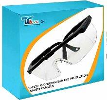 TK9K - Sicherheit und Augenschutz Workwear Sicherheitsbrille Schutzbrille design zum Umwickeln mit verstellbaren Seitenarme sowie angespritzte Nasenauflage. Kratzfeste Polycarbonat. Gemäß EN166.