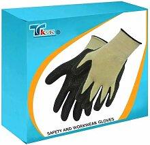 TK9K - Sicherheit und KEVLAR Mix Workwear Handschuhe Nitril Handschuhe Einheitsgröße Nitril-Ummantelung mit Kevlar und Polycotton Liner gemischt. Verbindet hervorragende grip mit hoher Abriebfestigkeit, chemische und Schnittfestigkeit.