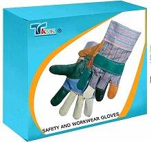 TK9K - Sicherheit und Workwear Handschuhe Rigger Handschuhe Designer Möbel Einheitsgröße rainbow, Möbel Rigger Handschuhe verborgenem. Streifen aus Baumwolle und halb-Stiff Rückseite mit eingekleisterten Bündchen. Schlichtes Design.