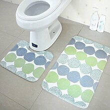 Tkopainsde 2 Tlg Badezimmer Set Mode Wc Deckt Rutschfeste Dusche Badematte Teppich Teppich, C