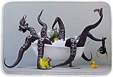 Tkopainsde 3D-Badematte Tier Elefant Löwe Badezimmer Matte Für Wohnzimmer Schlafzimmer Fußmatten Küche Teppiche Eingang Fußmatten, Typ 4.400 Mm X 600 Mm