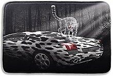 Tkopainsde 3D-Badematte Tier Elefant Löwe Badezimmer Matte Für Wohnzimmer Schlafzimmer Fußmatten Küche Teppiche Eingang Fußmatten, Typ 17.400 Mmx600Mm