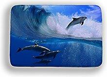 Tkopainsde 3D Cartoon Dolphin Rutschfeste Dusche Mat Starfish Memory Foam Badematte Für Wc Badezimmer Teppiche Whirlpool Badematte 40 X 60 Cm Fußmatte, Typ 22400 Mmx600Mm
