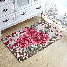 Tkopainsde 3D Flower Teppich Kinderzimmer, Küche