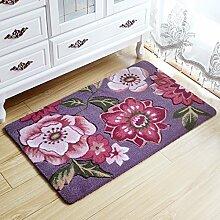 Tkopainsde 3D Flower Teppich Kinderzimmer, Küche Teppiche Bad Teppich, Fußmatte Eingangstür Matten Outdoor, Günstige Badematte, 8, Ca. 45 Cm X 70 Cm