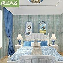 Tkopainsde Dicke 3D Vision Von Retro Grau Brick Wall Paper Hotel Restaurant Red Brick Pvc Wasserdicht, Orchideen Im Holz - Korn 5 M