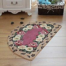 Tkopainsde Küche Badezimmer Teppich Teppich Fußmatte Für Wohnzimmer Anti-Rutsch Badematte, Hongsemeiguihua, 40 X 67 Cm