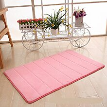 Tkopainsde Memory Foam Badezimmer Schlafzimmer Badematte Weichen Boden Teppich Teppich Rutschfeste, 40 * 60 Cm, Rosa