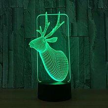 TKWNB Nachtlicht Weihnachten 7 Farbe Lampe 3d
