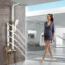 TLLZYBN Dusche Mattschwarz Duschsäule Regendusche
