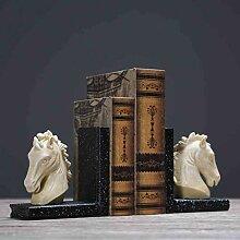 TLMYDD Kreative Pferdekopf Buch von Buchstütze
