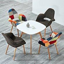 TLMYDJ Nordic Einfach Massivholz Esszimmer Stuhl