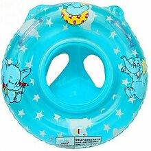 TlueTathtub 1 Stk Baby Schwimmen Hals Float Ring Aufblasbare Kinder Hals Float Sicherheit Produkt Strand Zubehör Baby Badezimmer Zubehör, Himmelblau