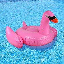 TlueTathtub 150*150Cm Weiß & Rosa Ride-On Schwimmring Pool Spielzeug Aufblasbarer Flamingo Schwimmend Zeile White Swan Floating Zeile Für Urlaub Spaß Im Wasser, Spanien, Rosa