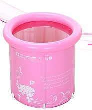 TlueTathtub 65 X 70 Verdickung Falten Portable Whirlpool Nach Spa Pvc Wanne Aufblasbare Badewanne Eimer Blau Und Pink