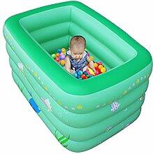 TlueTathtub Aufblasbare Pool Baby Große Warm Halten 4 Schichten Kinder Badewanne Tragbarer Wanne 145 X 105 X 76 Cm, Grün