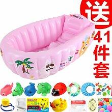 TlueTathtub Baby Aufblasbare Badewanne Baby Badewanne Große Kind Badewanne Wanne Neugeborenen Verdickung Klappbarer Wanne, Grün