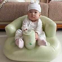 TlueTathtub Baby Sofa Aufblasbare Sitz Jungen Spielball Grün Pink Blau Baby Sitz Für Waschen, Essen, Spielen Kinder Sofa Integrierte Luftpumpe Autoinflation, Blau