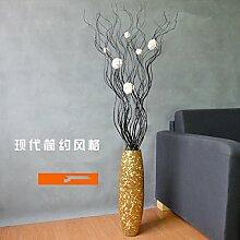 Tlue Tathtub Eine Moderne, Minimalistische Mode Glas Vase Set Home Ausstattung Landung Asche Hochzeit Dekoration Dekoration Dekoration Zimmer, Goldene Vase