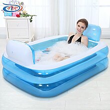 TlueTathtub Größe 152 * 108 * 60 Cm, Mit Elektrischer Pumpe, Aufblasbare Badewanne, Falten Verdicken Erwachsener, Kind Badewanne Waschbecken