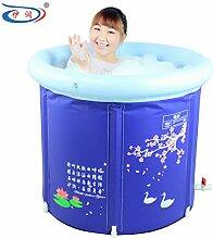 TlueTathtub Größe 75 * 70 Cm, Mit Luftpumpe, Winter Verdickung 75 Cm Plus Größe, Faltbare Badewanne. Badewanne Wanne, Aufblasbare Whirlpool