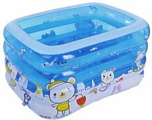TlueTathtub Kinder Schwimmbad Kind Badewanne Baby Pool Mit Pumpe Rechteckige Aufblasbare Matratze Für Schwimmen Boot Pvc Aufblasbarer Pool, Blau