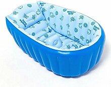 TlueTathtub Mambobaby 0-3 Jahr Kinder Verdickung Wanne Waschen Schüssel Falten Baby Whirlpool Schwimmbad Optionen Portable Aufblasbare Babywanne, Himmelblau