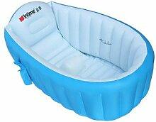 TlueTathtub Neue Aufblasbare Whirlpool Badewanne Pool Baby Kinder Dick Faltbare Rutschfeste Badewanne Kostenlose Verteilung, Blau
