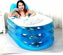 TlueTathtub Neue, Klappbare Langlebig Nach Spa Aufblasbare Badewanne Mit Elektrische Luftpumpe, Blau